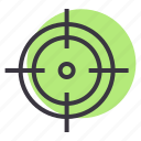 aim, crosshair, focus, goal, hit, shoot, target icon