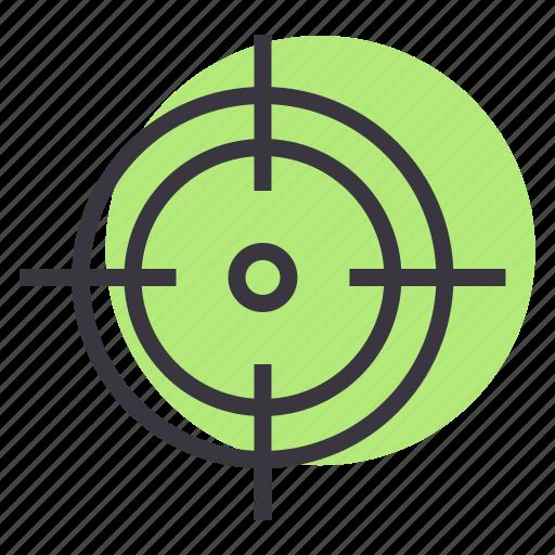 aim, crosshair, focus, goal, hit, shoot, target icon