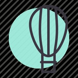air, balloon, flight, fly, fun, parachute, transport icon