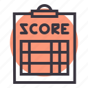 clipboard, coach, pad, paper, referee, score, scorecard icon