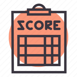 clipboard, coach, pad, paper, referee, score, scorecard icon