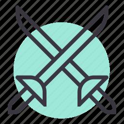 combat, cross swords, duel, fight, fighting, sword, weapon icon