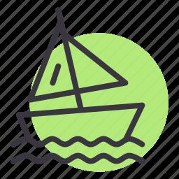 beach, boat, olympics, sailing, sports, water, yacht icon
