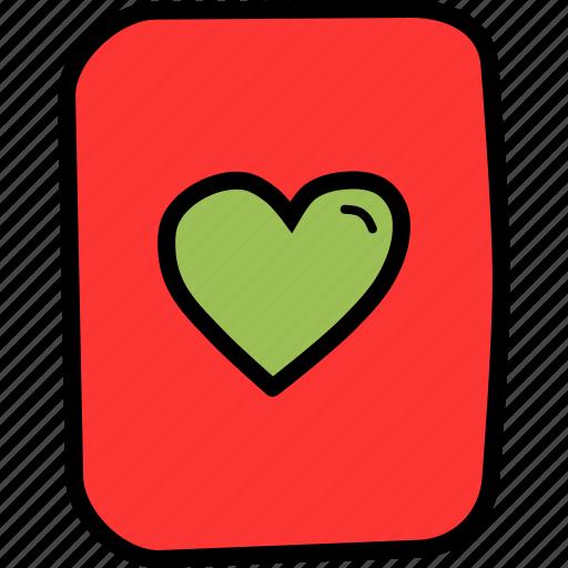 card, casino, gamble, heart, luck, playing, poker icon