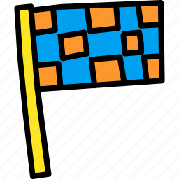 checkered, end, f1, flag, motorsport, race icon