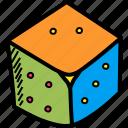 casino, dice, gamble, gambling, game, luck, roll icon