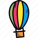 air, balloon, fly, fun, hot, parachute, travel icon