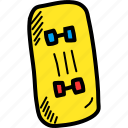 fun, roller, skate, skateboard, skating icon