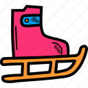 olympics, shoes, skate, skateboard, skating, winter games icon