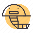 accessory, cricket, gear, head, helmet, protection, safety icon