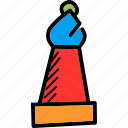 bishop, chess, game, piece, play, rank, strategy icon