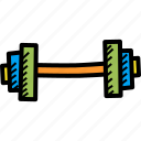 dumbbell, exercise, fitness, gym, training, workout icon