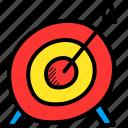 archery, arrow, bullseye, game, goal, olympics, target icon