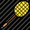badminton, game, olympics, play, racket, racquet, shuttle icon