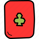 card, casino, clover, gambling, luck, playing, poker icon