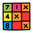 game, leisure, logic, play, puzzle, riddle, sudoku icon