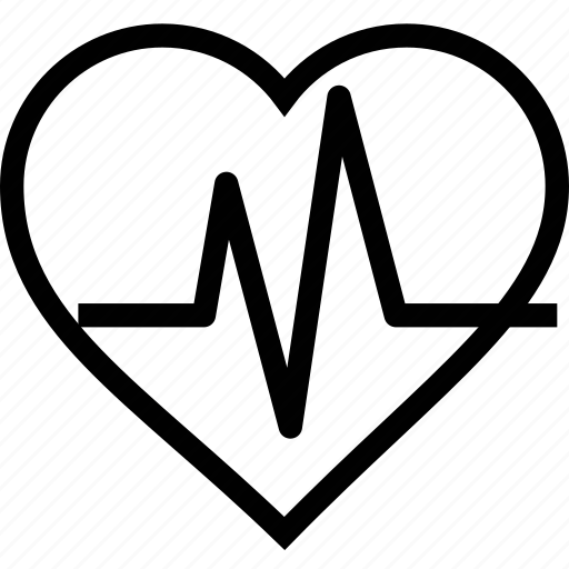 health, healthcare, heart, heartbeat, pulse icon