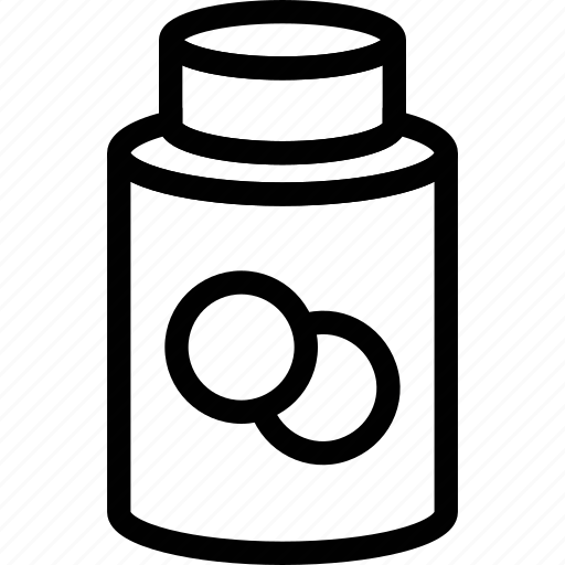 energy, fitness, pills, power, tablets icon