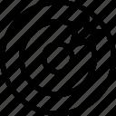 aim, bullseye, dart, goal, seo, target icon