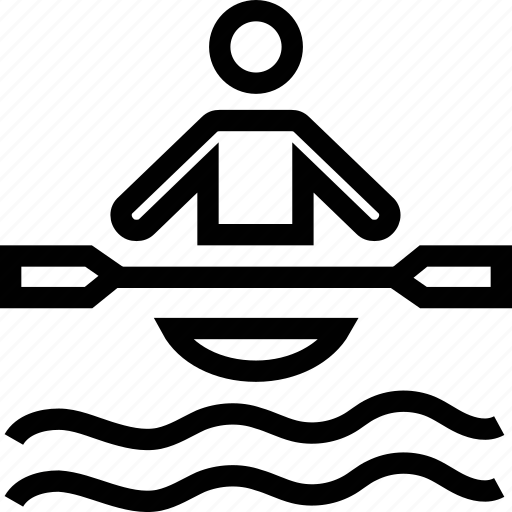 boat, boating, canoe, canoeing, kayak, paddling icon