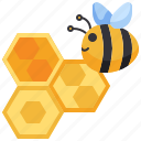 animal, bee, farm, honey, honeycomb icon