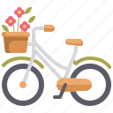 bicycle, cycling, flower, transportation, vehicle