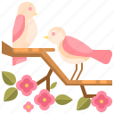 animal, bird, flower, fly, wings icon