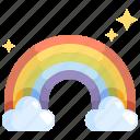 atmospheric, climate, cloud, nature, rainbow