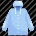 clothing, fashion, jacket, raincoat, security icon