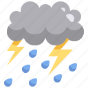 cloud, heavy, meteorology, rain, strom, weather icon