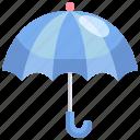 open, protection, rainy, umbrella, weather icon