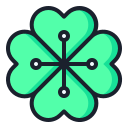 leaf, leaves, clover icon