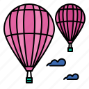 balloon, hot, air, fly, sky, travel, flight