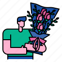 bouquet, flower, floral, decoration, vintage, spring, wedding