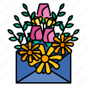 letter, flower, floral, leaf, alphabet, spring