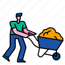 wheelbarrow, agriculture, farm, gardening, barrow, garden