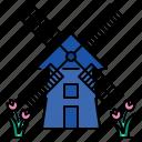 windmill, netherlands, wind, nature, environment, farm, turbine
