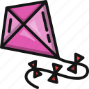kite, kid, toy, flying, play