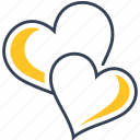 hearts, love, spring icon