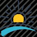 field, spring, sun icon