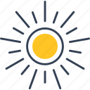 spring, sun, weather icon
