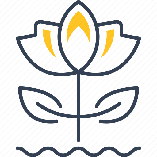 flower, sheet, spring, water icon