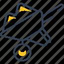 load, sand, spring, wheelbarrow icon