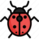fly, insect, ladybug, spring icon