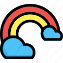 cloud, colorful, rainbow, weather