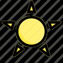 spring, summer, sun, weather icon