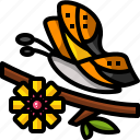 bug, butterfly, floral, flower, fly, insect, nature icon
