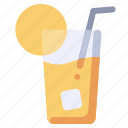 beverage, drink, ice, lemon, tea icon