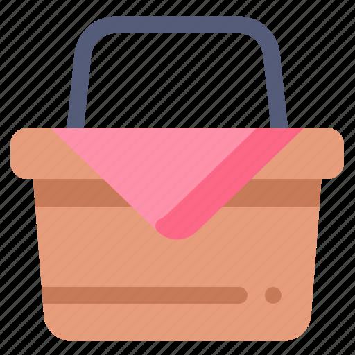 basket, camping, picnic, spring icon