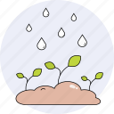 nature, plants, rain, season, spring icon